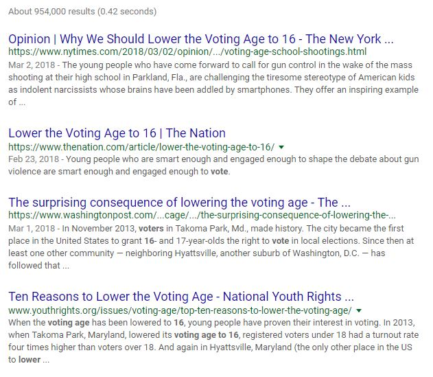 Lowering the Voting Age is Playing into the State's Hands